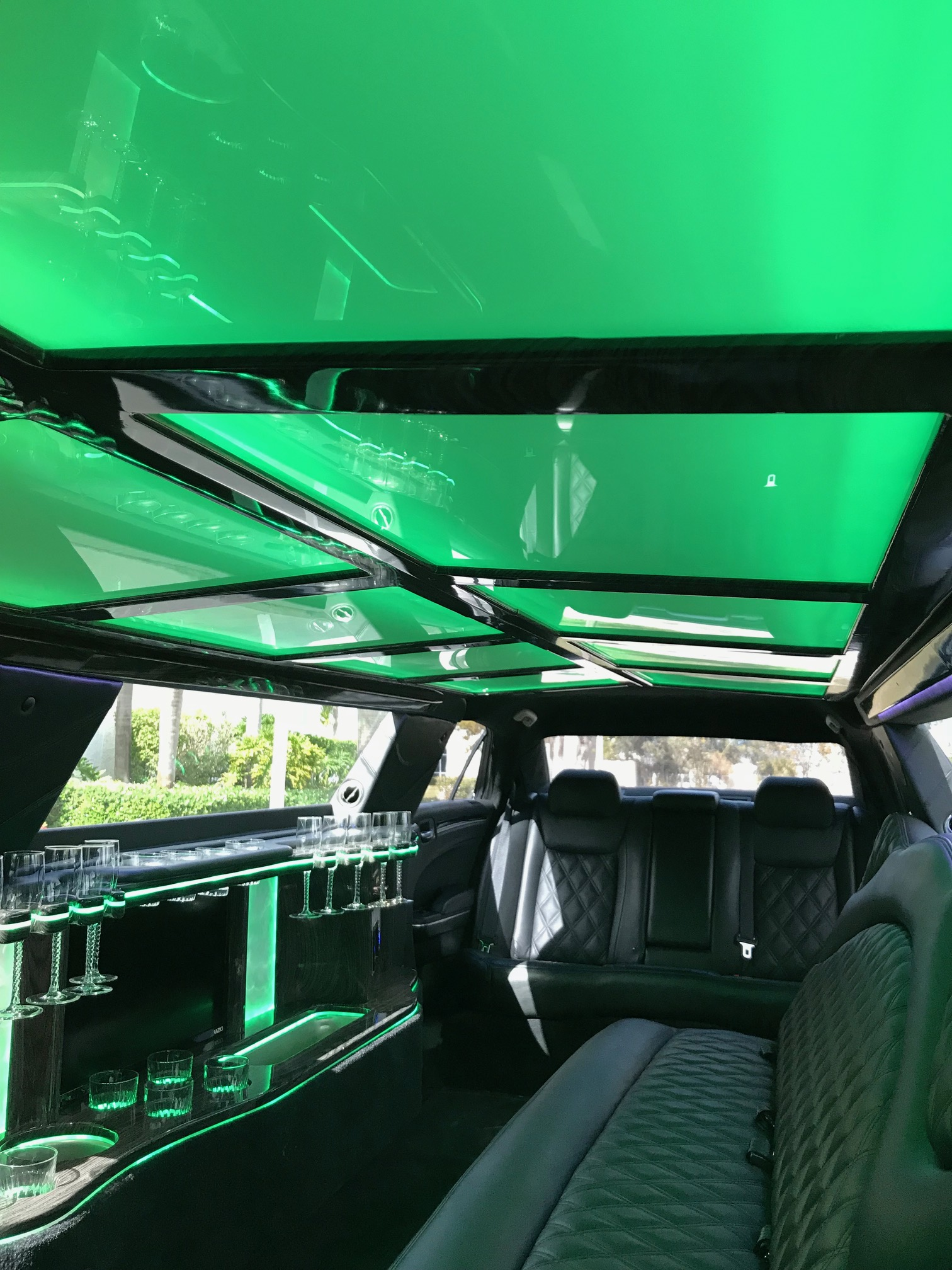 Lighting in limo ceiling