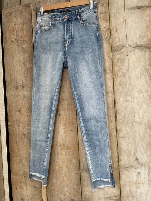Jeans met rits