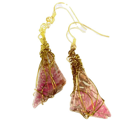 Neapolitan Triangle Medium Upcycled Earrings