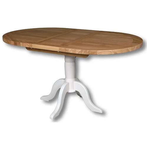 EPSOM WHITE OVAL DINNING TABLE 120CM