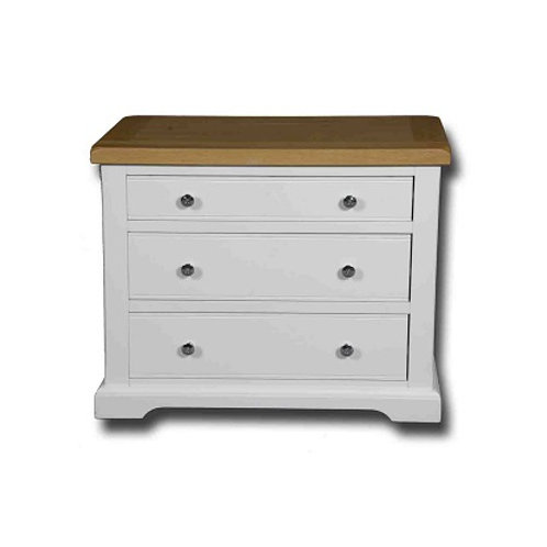 EPSOM WHITE PAINTED WINDOW HEIGHT 3 DRAWER UNIT