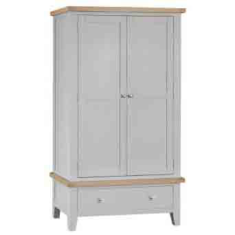 DORSET GREY PAINTED COLLECTION DOUBLE WARDROBE