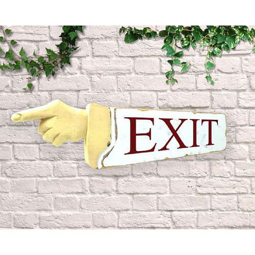 pointing sign exit