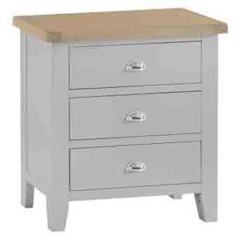 DORSET GREY  COLLECTION 3 DRAWER  CHEST