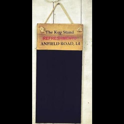 ANFIELD ROAD  BLACKBOARD