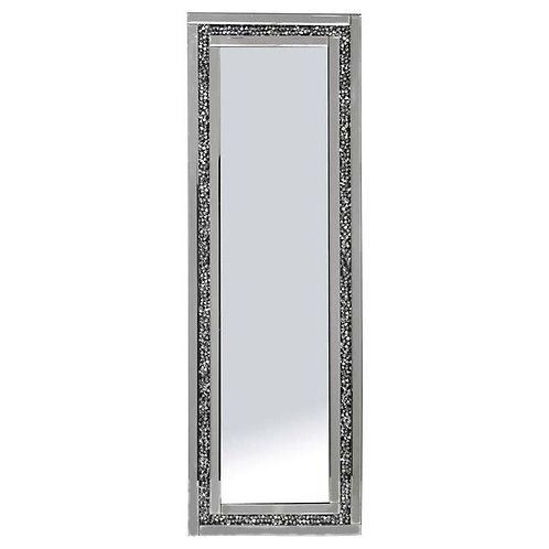 Crushed Glass Crystal Mirrored Edge Mirror  120cm x 40cm