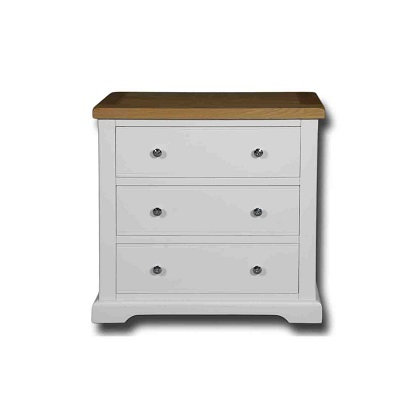 EPSOM WHITE PAINTED 3 DRAWER WIDE WELLINGTON