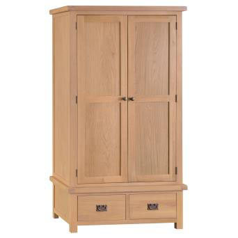 NEW KENT RUSTIC 2 DOOR 2 DRAWER WARDROBE