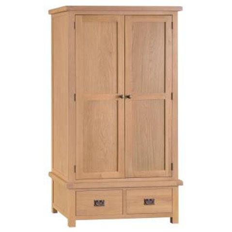 NEW KENT RUSTIC 2 DOOR 2 DRAWER WARDROBE