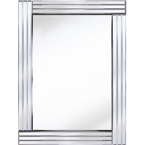 THREE BAR ALL GLASS MIRROR 120 X 80CM