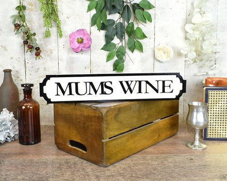 mini sign mums wine