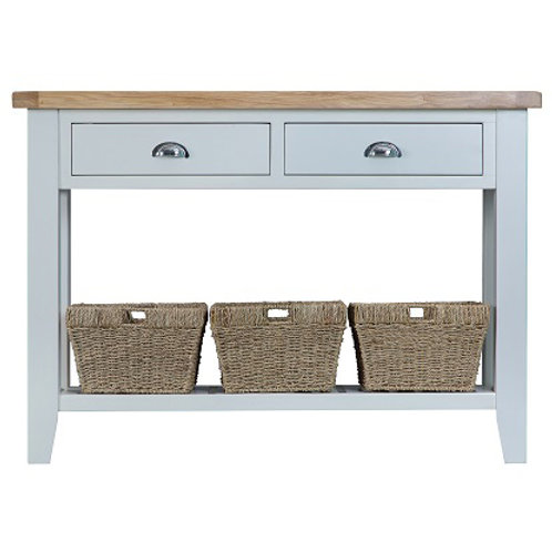 DORSET GREY PAINTED RANGE LARGE CONSOLE TABLE