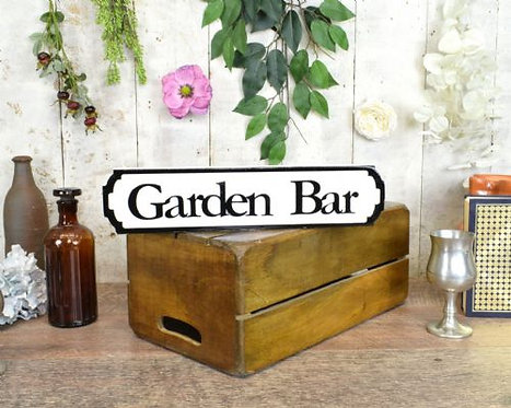 mini sign garden bar