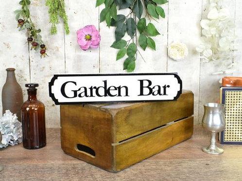 mini sign garden bar