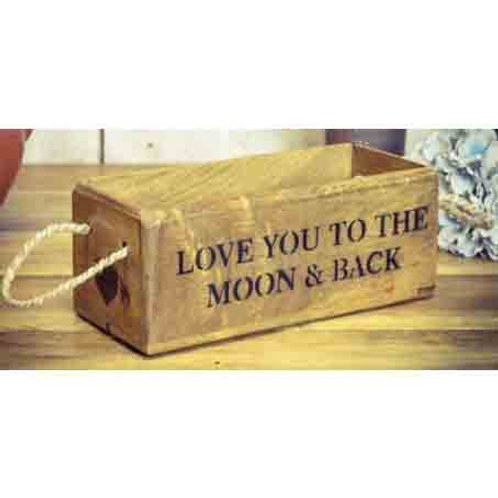 WOODEN BOX SMALL LOVE YOU TO THE MOON AND BACK
