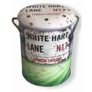 BIN /STOOL LARGE WHITE HART LANE