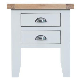 DORSET WHITE PAINTED COLLECTION LAMP TABLE