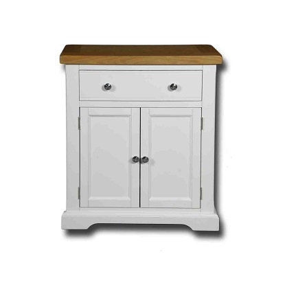 EPSOM WHITE PAINTED 1 DRAWER 2 DOOR SIDEBOARD