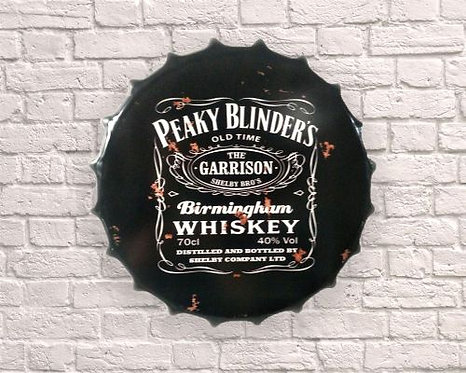 small peaky blinders bottle top wall art