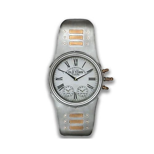 silver watch clock