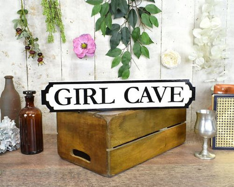 mini sign girl cave