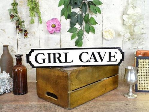 mini sign girl cave