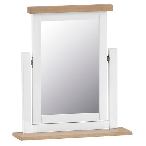 DORSET WHITE  PAINTED COLLECTION DRESSING TABLE MIRROR