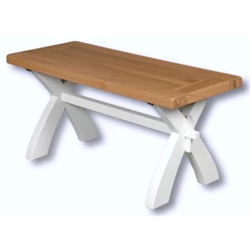 EPSOM WHITE BENCH 90CM /COFFEE TABLE