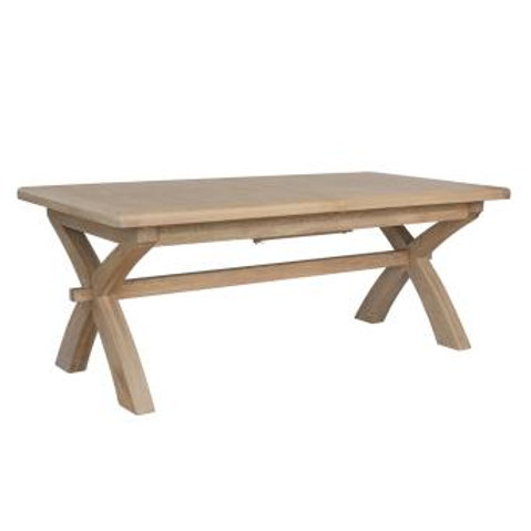 country oak 2 m cross leg dining table ext
