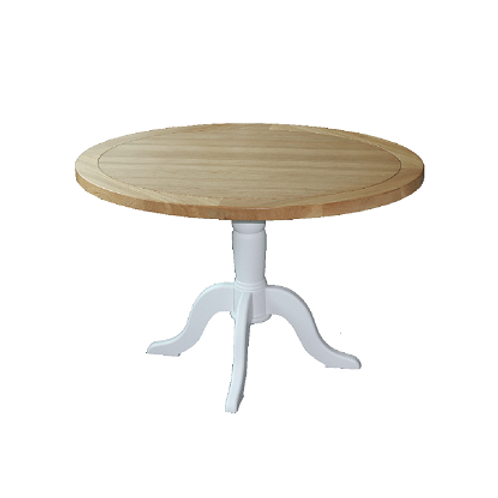 EPSOM WHITE PAINTED OVAL TABLE