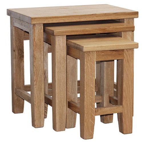 HENLEY RUSTIC  OAK NEST OF TABLES