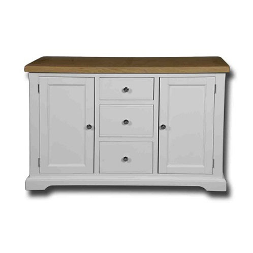 EPSOM WHITE PAINTED 3 DRAWER 2 DOOR SIDEBOARD