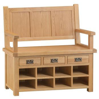 NEW KENT RUSTIC RANGE MONKS BENCH