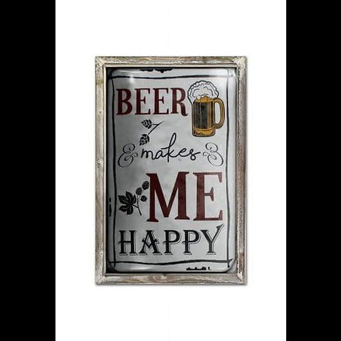 BEER ME HAPPY WALL PLAQUE
