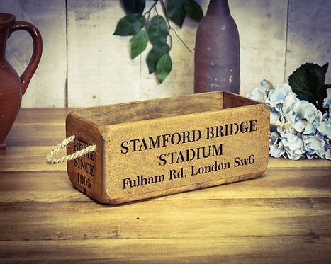 WOODEN BOX SMALL STAMFORD BRIDGE