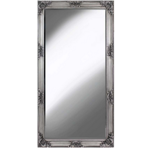 VICTORIAL ANTIQUE  SILVER LEANER MIRROR