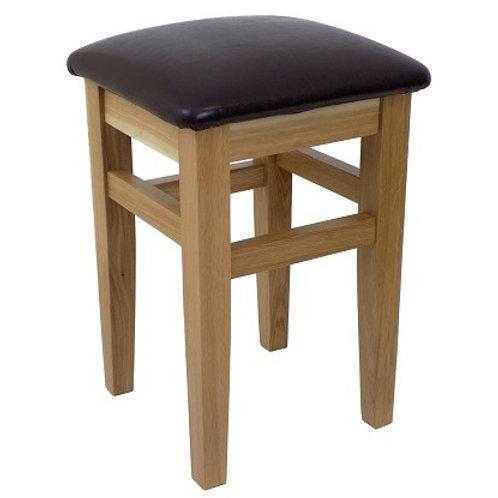 BROMLEY LOW STOOL BROWN  SEAT PAD