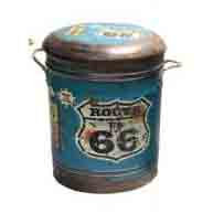 STOOL/BIN ROUTE 66 SMALL