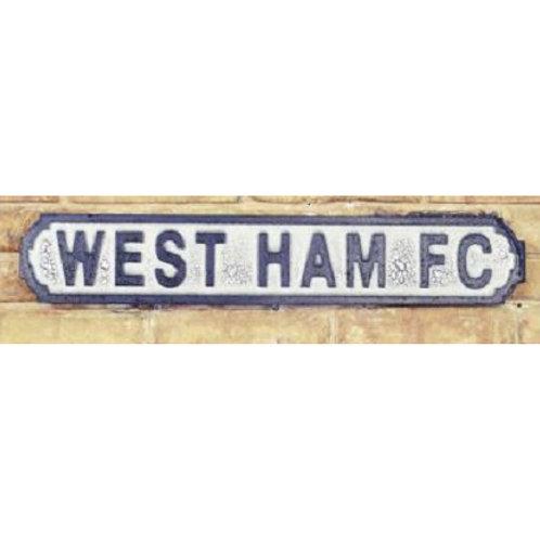 VINTAGE SIGN WEST HAM FC