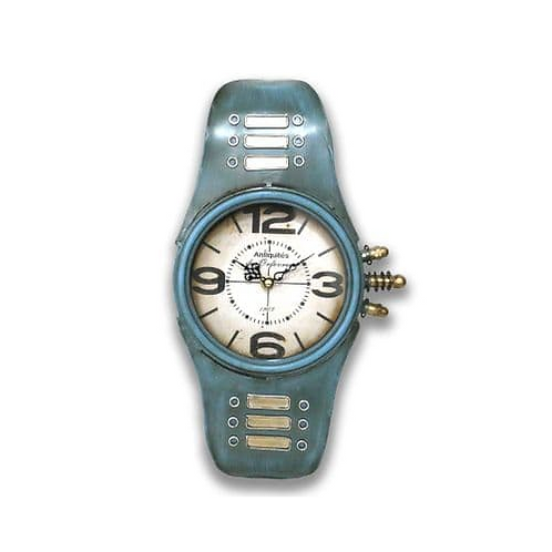 blue watch clock