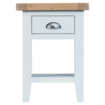 DORSET WHITE  PAINTED COLLECTION SIDE TABLE