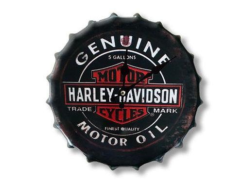 harley bottle top clock