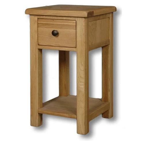 HENLEY RUSTIC  OAK LAMP TABLE