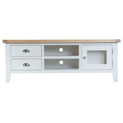 DORSET WHITE  PAINTED COLLECTION LARGE T.V UNIT