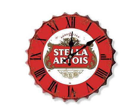 stella artois bottle top clock