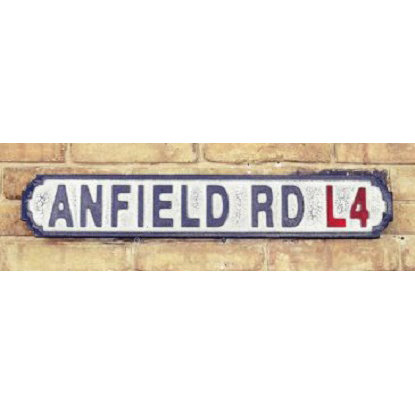 VINTAGE SIGN ANFIELD ROAD L4