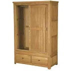 HENLEY RUSTIC OAK DOUBLE   WARDROBE  SLIDING  DOORS