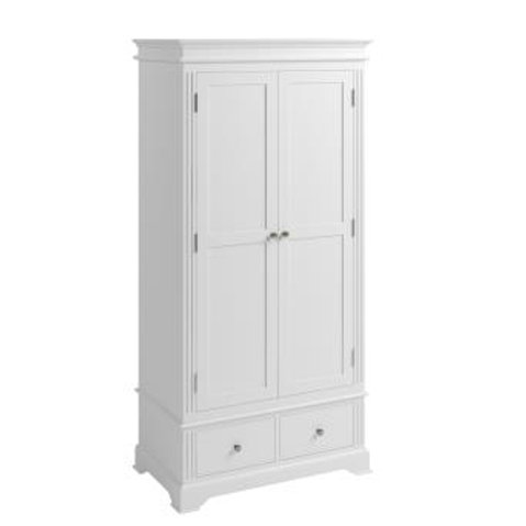WHITE BROMPTON 2 DOOR WARDROBE