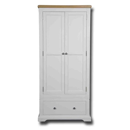EPSOM WHITE PAINTED SINGLE WARDROBE