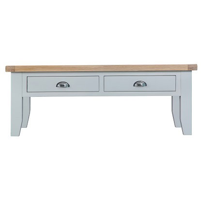 DORSET GREY PAINTED RANGE LARGE COFFEE TABLE WITH DRAWER
